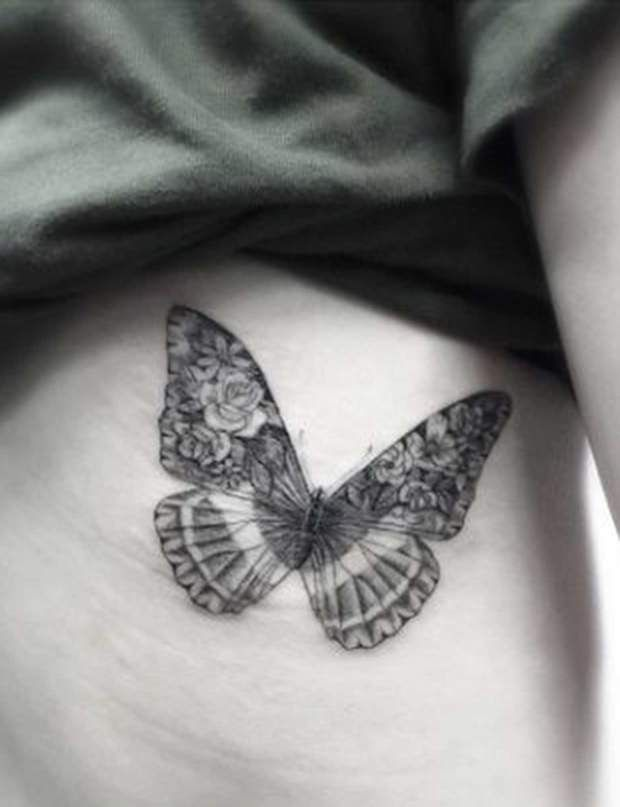 Tatouage papillon vintage