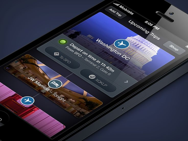 Trips app #webdesign #design #designer #inspiration #user #interface #ui