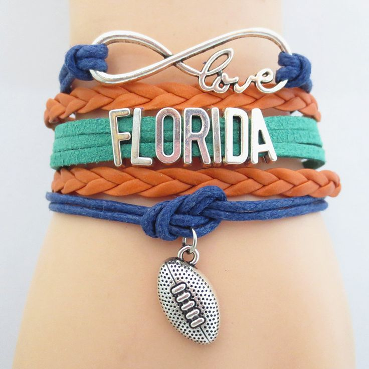 Infinity Love Florida Football - Show off your teams colors! Cutest Love Florida Bracelet on the Planet! Don't miss our Special Sales Event. Many teams available. www.DilyDalee.co