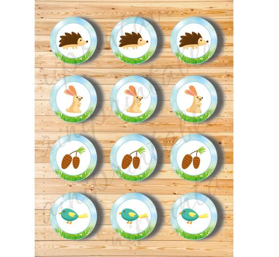Two Digital Files  Cupcake Topper Spring by AiniPrintables on Etsy