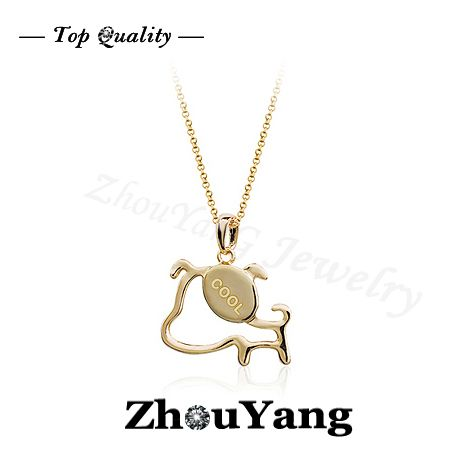 ZYN243 Cool Dog 18K Rose Gold Plated Fashion Pendant Jewelry Made with Austria Crystal  Wholesale $182,51