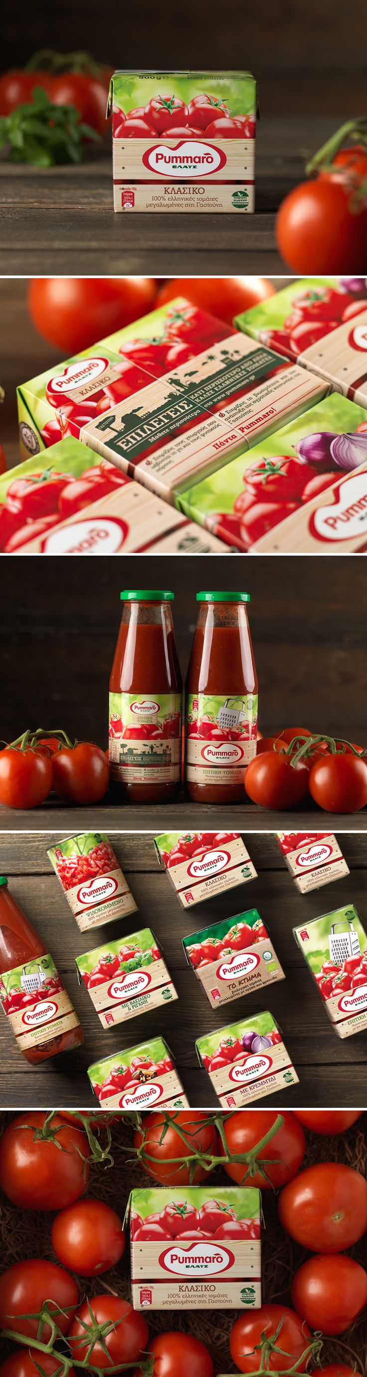 New visual identity & packaging design for Pummaro tomato sauces by 2yolk