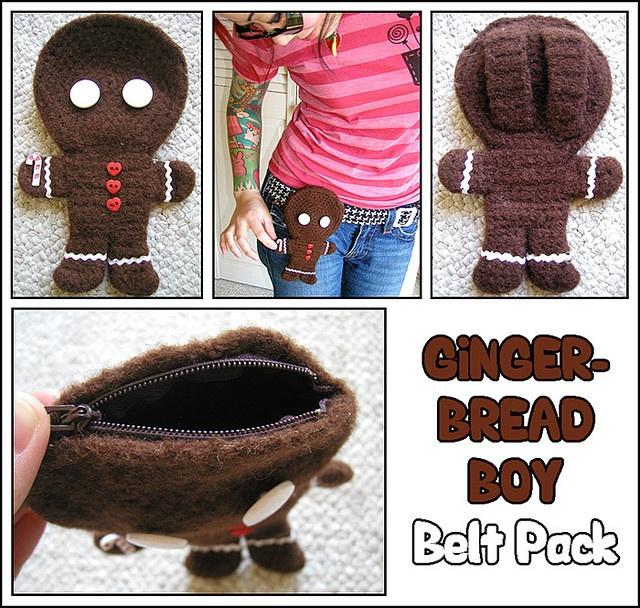 Gingerbread Boy - Belt Pack by TWiNKiE CHAN, via Flickr