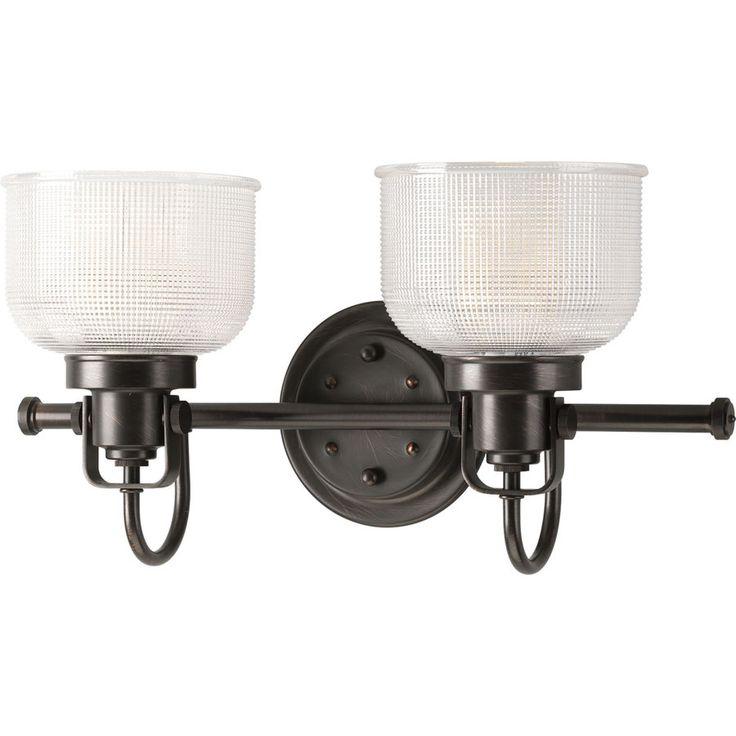 Lowes Bathroom Light Fixtures Bronze: Shop Progress Lighting 2-Light Archie Venetian Bronze