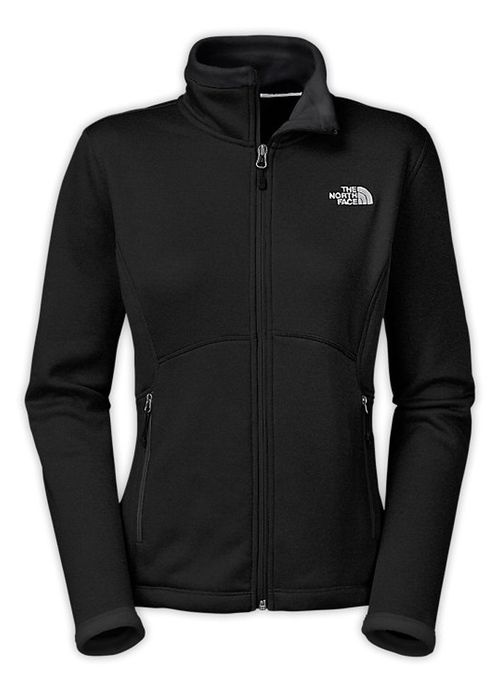 This Women's Agave Jacket in Metallic Silver by The North Face is soft, yet protective, this sleek hard face fleece jacket now features a DWR (durable water repellent) finish at the exterior and a bru