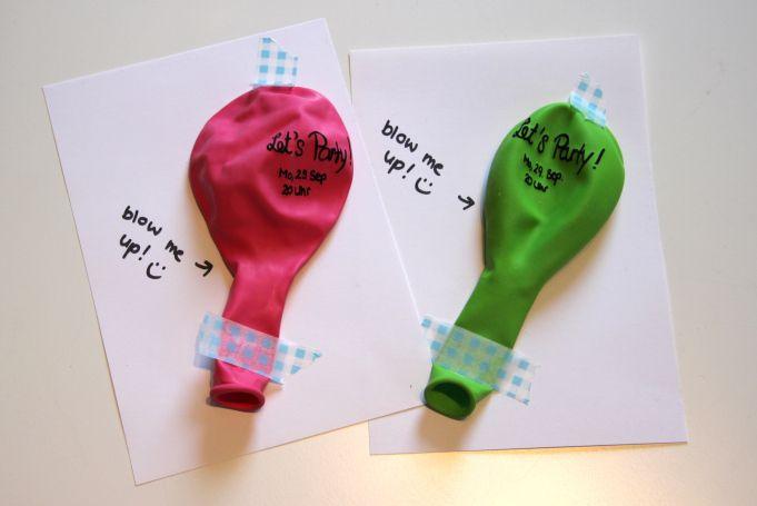 Letu0027s Party! | Geburtstagseinladungen, Luftballons Und Erwachsene,  Einladungs · Einladungskarten Kindergeburtstag ...