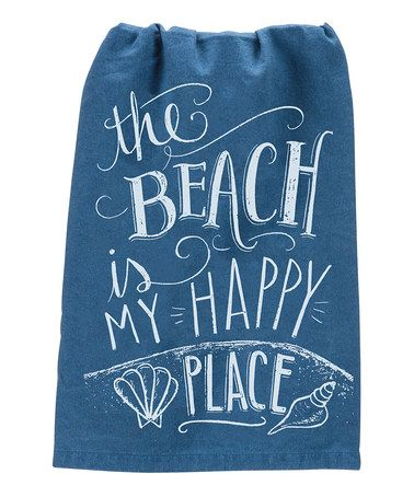 This 'My Happy Place' Dish Towel is perfect! #zulilyfinds