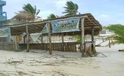"""Remnants of """"Casa Azul Beach Bar""""  """"After Photos """"  Hurricane Dean Ranchos Puerto Morelos Aug 2007 Yucatan Q Roo  Hurricanes tropical storms"""