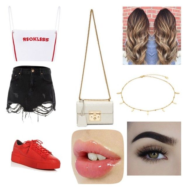 """Untitled #1"" by idaayudevinaputrisuteja ❤ liked on Polyvore featuring River Island, Kendall + Kylie and Gucci"