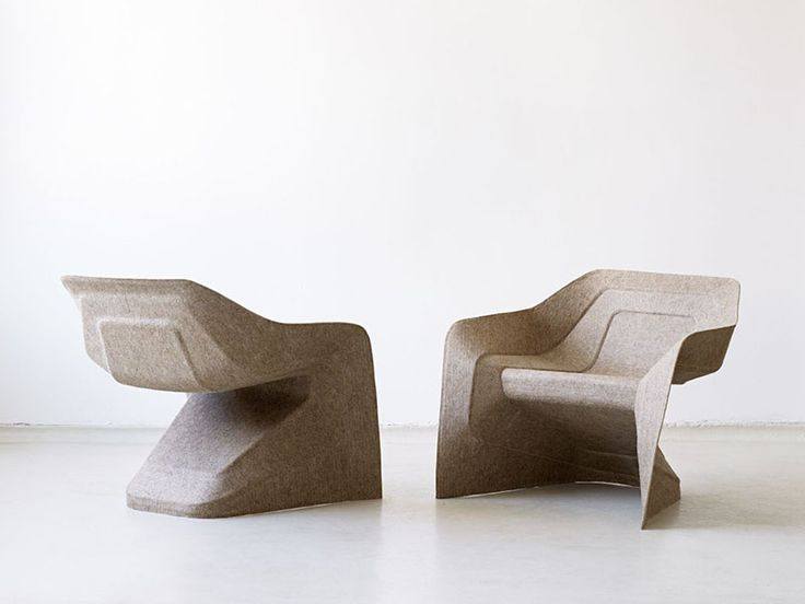 Monobloc Chair Hemp by Studio Aisslinger - 3D thermo-moulded chair using hemp fibre and water-based acrylic resin. Love this!