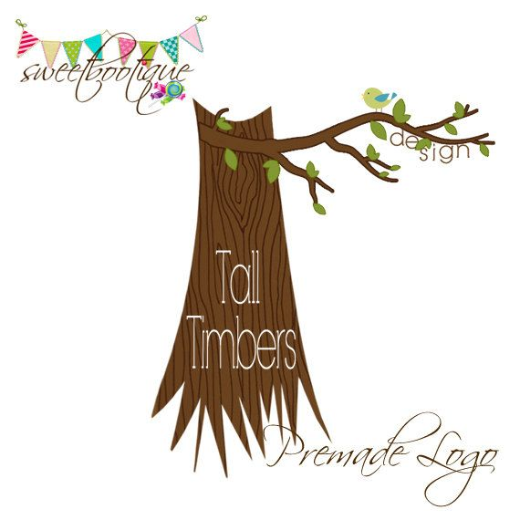 FULLY CUSTOMISABLE  Premade Logo  Tall Timbers by SweetBootique