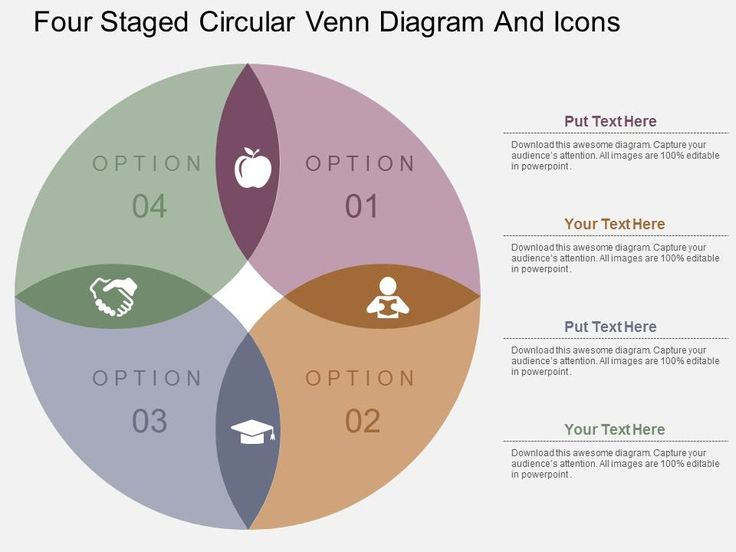 Venn Diagrams Shaped Flat Designed Slides and Templates for Powerpoint