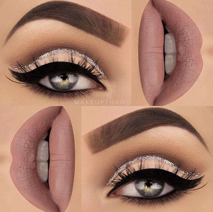 Make up thang | cashmere lime crime, glitter cut crease cat eye
