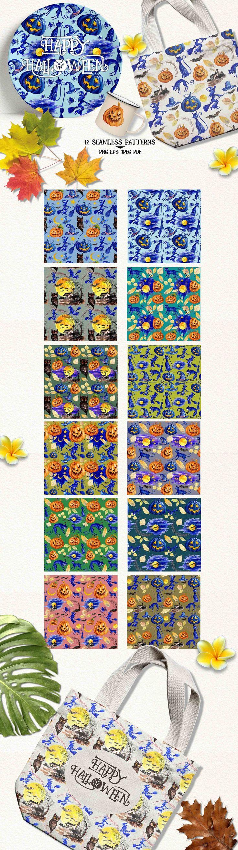 Halloween Seamless Patterns by iGRAPHOBIA on @creativemarket