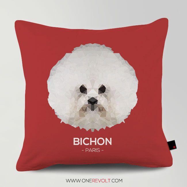 Customized BICHON PARIS Cushion 주문제작 쿠션 #홈데코 #데코 #쿠션 #강아지 #비숑프리제 #비숑 #애견쿠션 (want one? contact me ^^) www.OneRevolt.com
