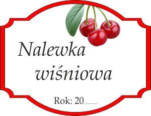 Naklejka na wiśniową nalewkę