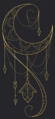 Talisman - Draping Crescent design (UT9874) from UrbanThreads.com