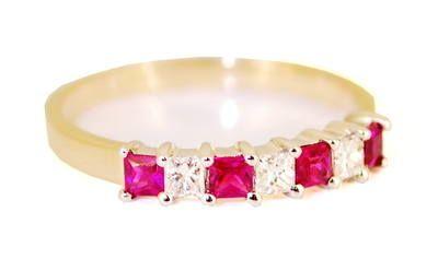 Ruby Half Eternity Ring