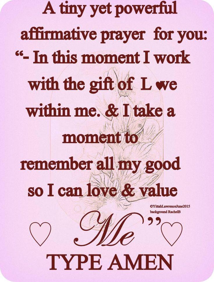 ♥ Positive Spiritual Affirmation ♥  #YitahWisdom An afirmative  prayer for you