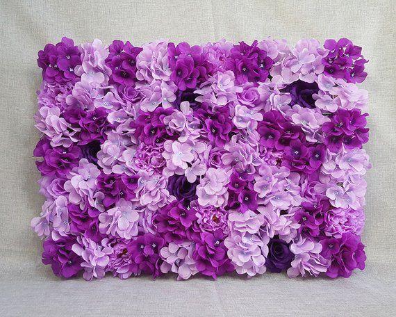 Blumenwand Kulissen, Seide Hortensie Rosen Pfingstrose Hochzeit Hintergrund, lila, Pflaume, Lavendel, lila Blumenwände Fotografie Requisiten CJHQ-Q014   – Products