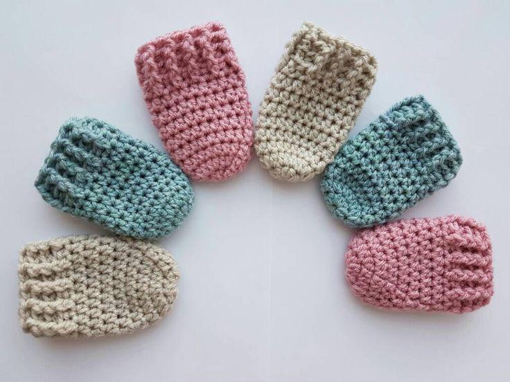 1 paar baby wantjes, gehaakte wanten, handschoenen, baby mittens, baby fäustlinge, handschuhe, mittens, crochet mittens door Frisianknitting op Etsy