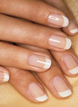 I would kill for my nails to look this simple but sophisticated!