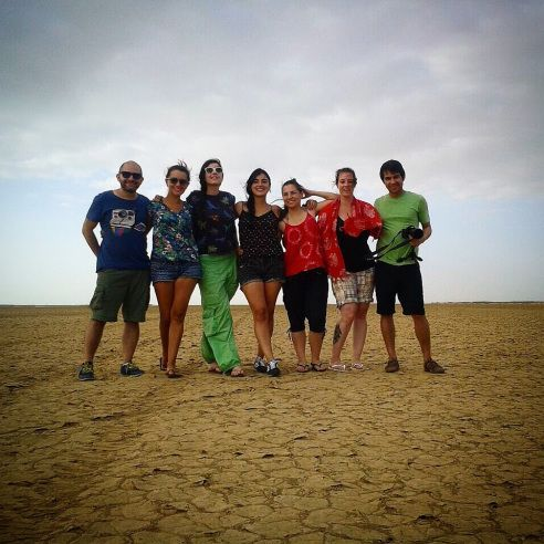 Nuevos amigos viajeros, desierto de la Guajira, Colombia