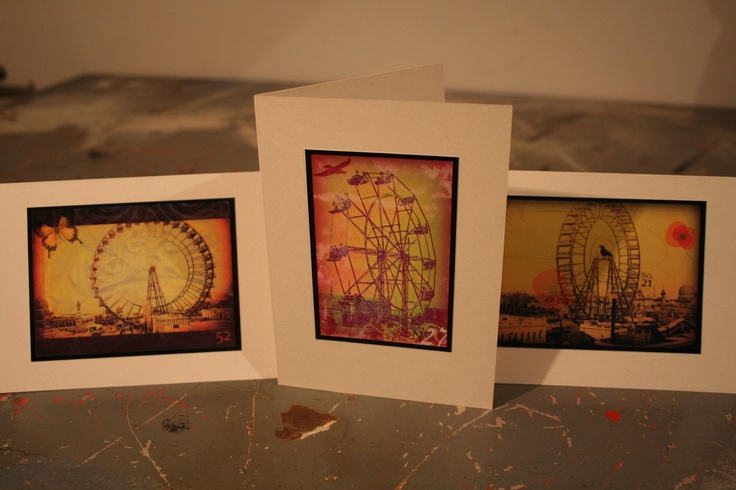 set of 3 ferris wheel cards. $6.00, via Etsy.