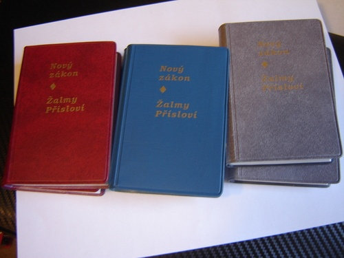 These are Czech New Testaments for www.bibleinmylanguage.com