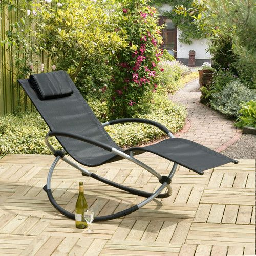 suntime orbit relaxer folding rocking chair sun lounger