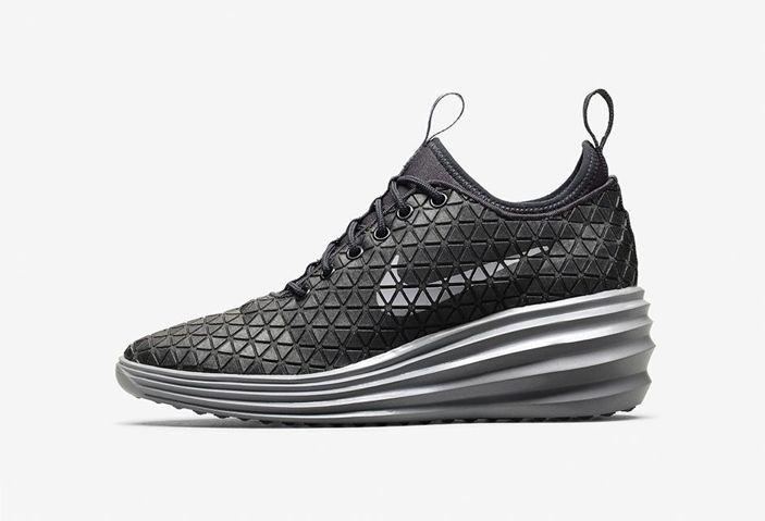 Nike Casual Shoes Lunar Elite Sky Hi City Pack Negro Plata,
