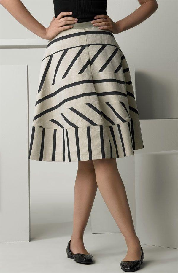 Необычные юбки в полоску