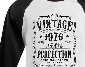 41st Birthday Gift For Men and Women Vintage by SHIRTSnGIGGLES