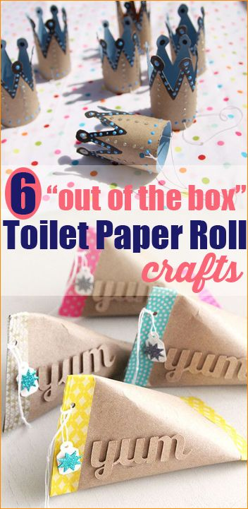6 super creative uses for recycled toilet paper rolls. Get inspired with these cool crafty ideas.
