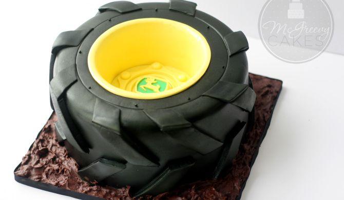 Tractor Tire cake tutorial