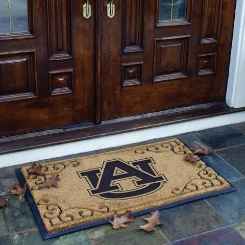 """Auburn University Door Mat Size: 2' x 3'3"""" by The Memory Company. $56.95. Usually ships within 3-5 days. Logo Door Mat. Shipping Times during the holidays may be 1-3 days longer. COL-AU-830 Size: 2' x 3'3"""" Features: -Auburn University logo.-Crafted in coir fiber and pressed rubber.-24'' Tall.-Adds character to every entrance. Dimensions: -39'' Wide."""