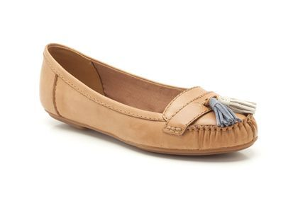 Clarks Clovelly Way, Tan Leather, Womens Casual Shoes