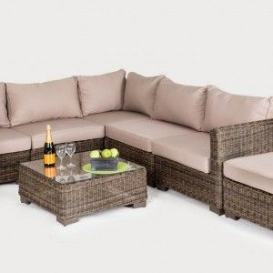This Casablanca rattan sofa set is a modular system so you can have many different combinations. http://outsideedgegardenfurniture.co.uk/rattan-garden-sofa-set-sale/