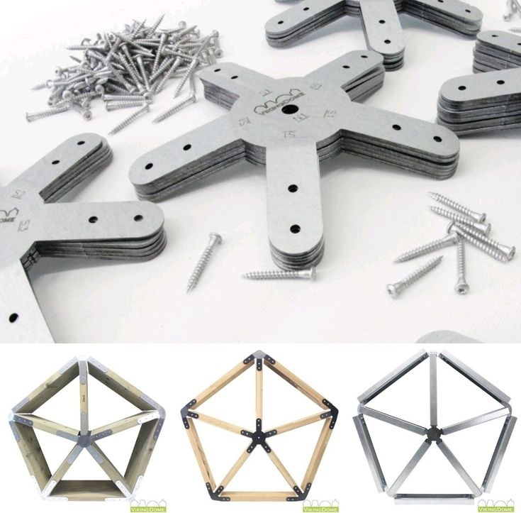 2x6 Heavy Duty Wood Geodesic Hub Kit: Star Connectors For Dome In 2019
