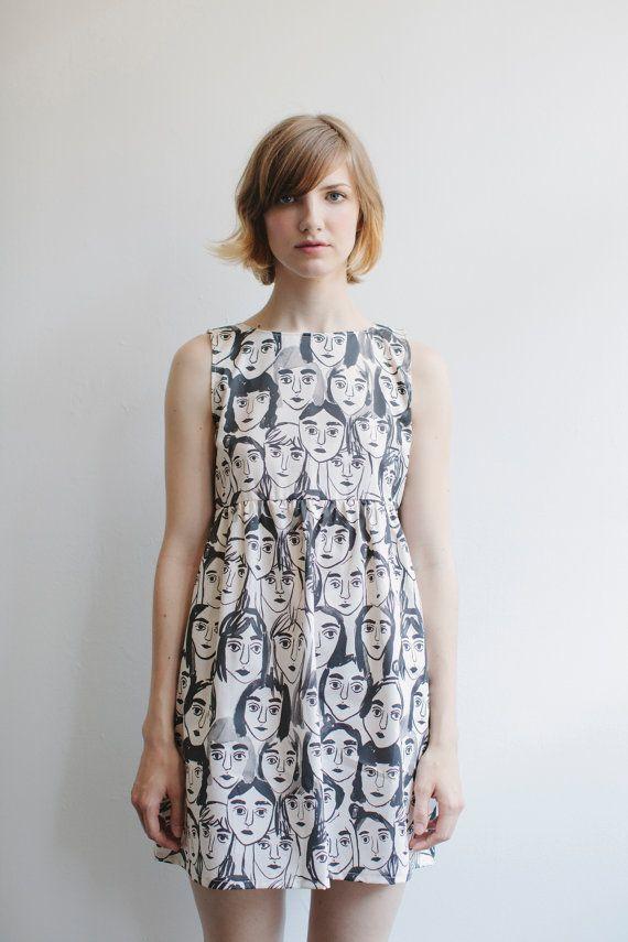 Girl Faces print by Leah Goren