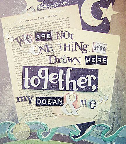 "Blogged: Why I make collage art. (By Lesley Myrick Art) Song lyric from ""In My Arms"" by Jon Foreman."