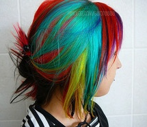 I want this! awesome, bright, & colorful hair!