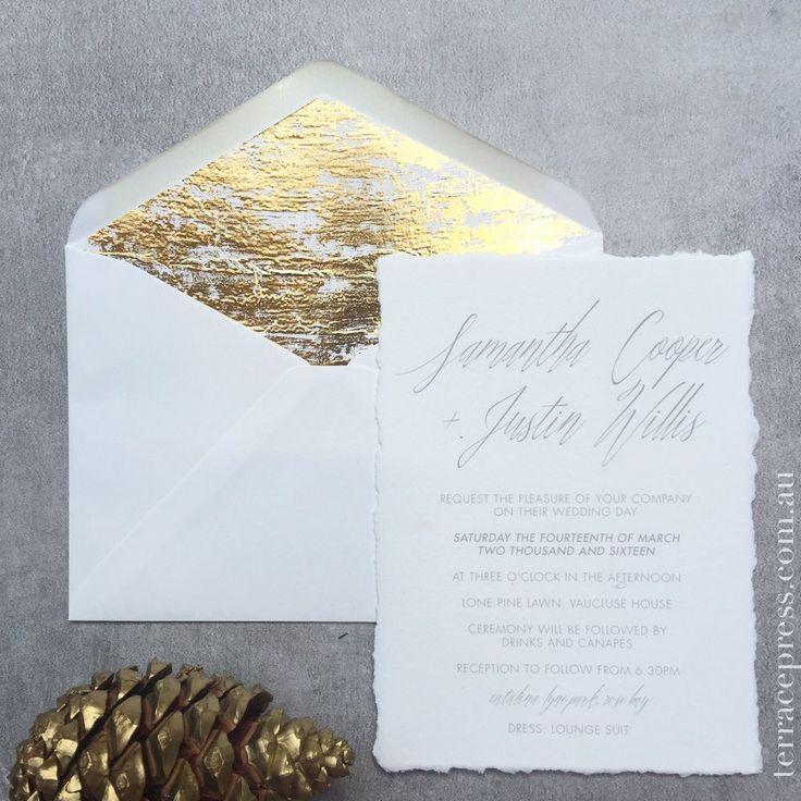 Simple Spirit studio collection #letterpress #terracepress #gold #wedding #invitation #stationery