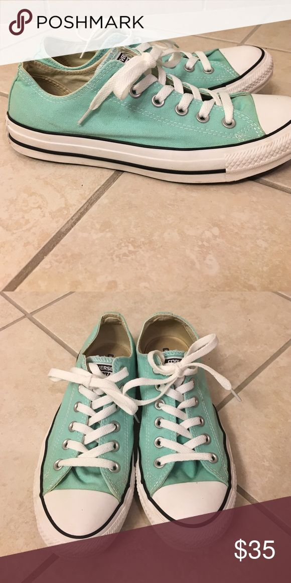 Turquoise Converse Rarely worn! Converse Shoes Sneakers