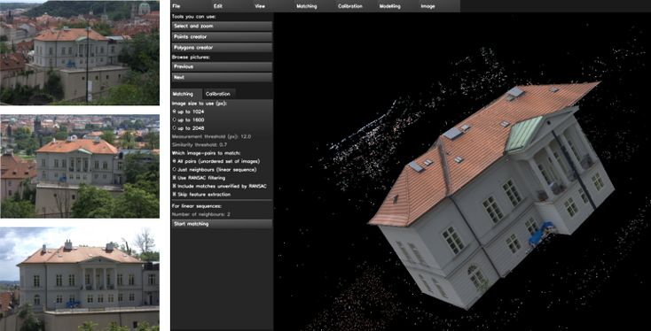 Villa in Prague reconstructed using insight3d