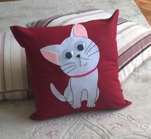 Sevimli kedi Yastık Bebek / Çocuk Odası Dekoratif Kırlent