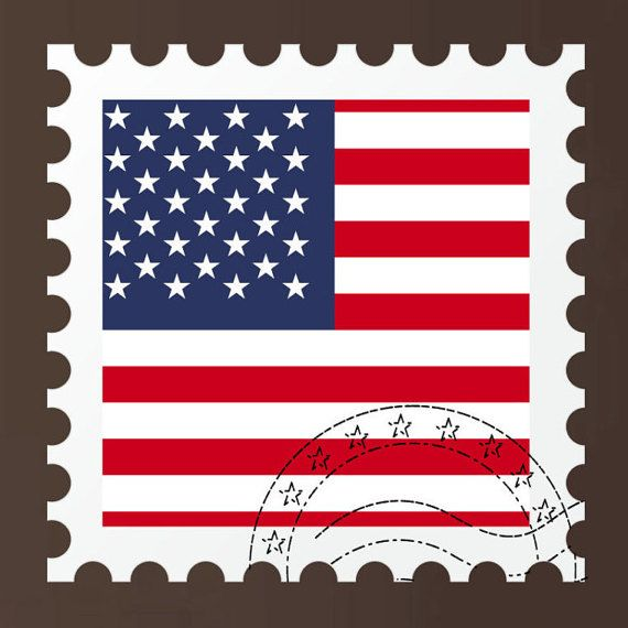 American Flag Stamp Wall Decal American flag stickers