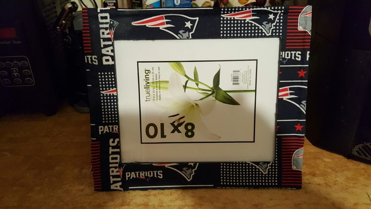 New England Patriots 8×10 picture frames are available. We make all sizes, with your favorite sports team.  Visit http://freeonme1.patternbyetsy.com #newenglandpatriots #nfl #miamidolphns #dallascowboys #greenbaypackers #homedecor