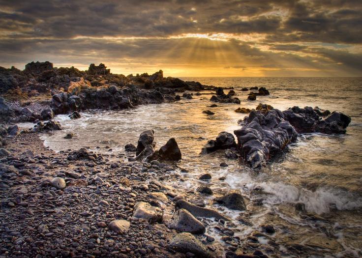 Wailea Natural Beach Sunset - Maui, Hawaii - Image taken just outside of the Wailea Marriott on Maui.