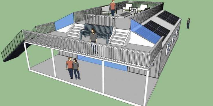 shipping container home designs einrichten und wohnen. Black Bedroom Furniture Sets. Home Design Ideas